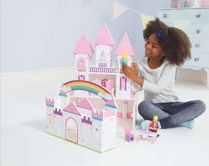 Wooden Princess Castle with Furniture Set £32 @ Asda George