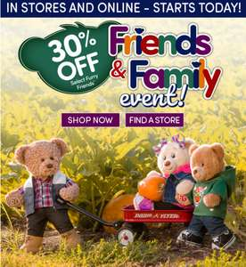 30% off selected Furry Friends @ Build a Bear