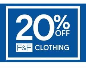 20% off F&F clothing instore @Tesco until Sunday 27th October