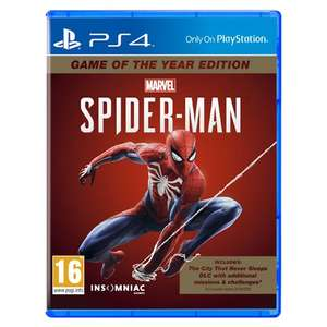 Marvel's Spider-Man: Game of the Year Edition (PS4) £24.99 Delivered @ Monster-Shop