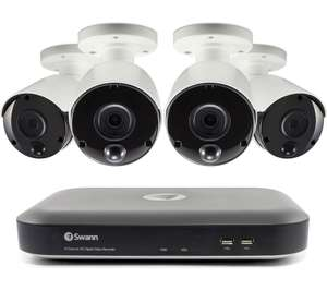 SWANN SWDVK-849804-UK 8-Channel 5 MP Smart Security System - 4 Cameras- 2Tb DVR £389 at Currys PC World