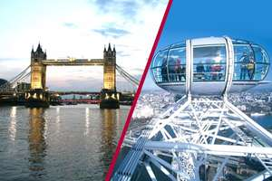 Coca-Cola London Eye Tickets and unlimited 24-hour River Cruise for Two £61 @ Buy A Gift