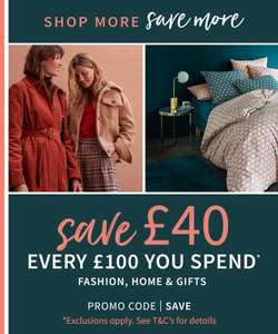 Save £40 off £100 spend at La Redoute