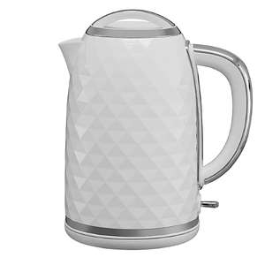 White Diamond Effect 3000W Fast Boil  1.7L Kettle + 2 Year Warranty £13 - Free Click & Collect @ George