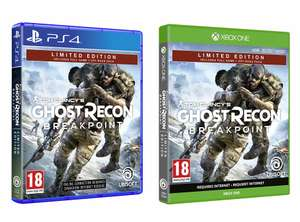 Tom Clancy's Ghost Recon Breakpoint Limited Edition (Exclusive to Amazon.co.uk) (PS4 / Xbox One) for £28.99 delivered @ Amazon
