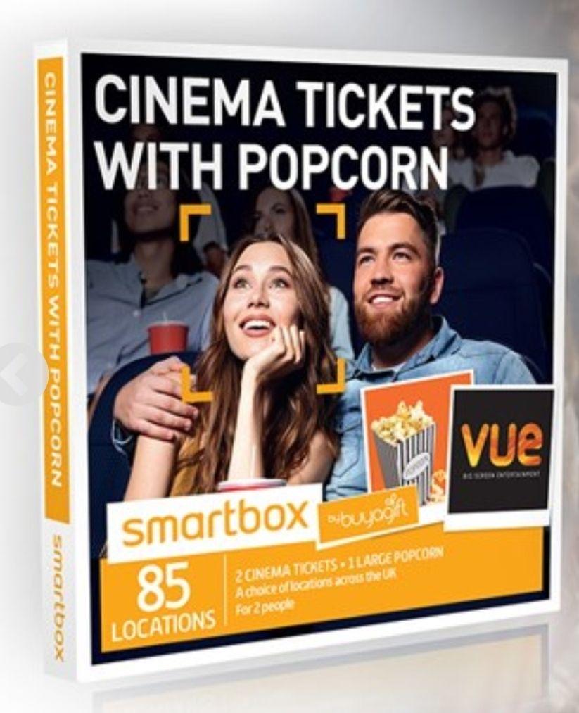 2x Vue Cinema Tickets + Popcorn £9.99 @ BuyAGift