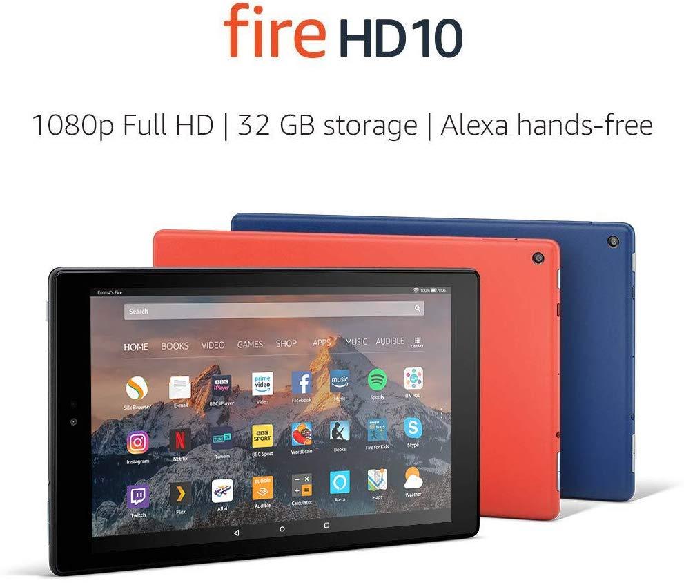 Certified Refurbished Fire HD 10 Tablet , 1080p Full HD Display, 32 GB (7th Gen) £79.99 Amazon
