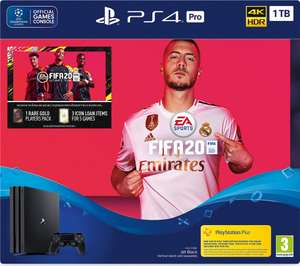 Sony Playstation 4 Pro 1TB With FIFA 20 + Free 6 Month Spotify Premium Streaming Subscription  £299 Delivered @ Currys PC World