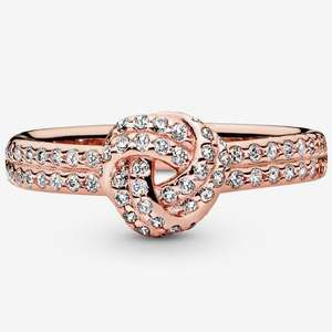 Pandora rose gold plated knot ring £29 + £2.99 delivery @ Pandora Shop