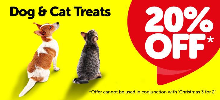 Jollyes Petfood - 20% off Cat and Dog treats