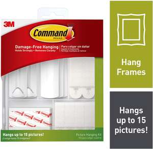 3M 17213ES Command Picture Hanging Kit, Multi-Colour £11.87 via subscribe and save @ Amazon (£4.49 Non-prime)
