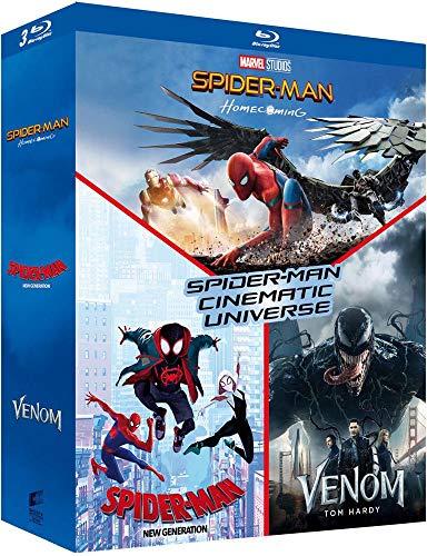 Spiderman Homecoming, Spiderman Into The Spiderverse, Venom, Triple Blu-ray boxset £15.77 @ Amazon France