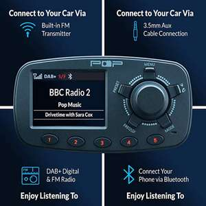 POPyourCar 3.0 Dab+ Car Radio Adapter £24.90 - Sold by 3-Monkeys and Fulfilled by Amazon