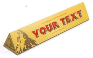 Personalised Toblerone Large 1 for £4 - 3 for £10 360g Stansted Airport (Air Side)