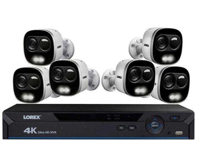 Lorex LNR826KXP 4K 8 Channel NVR with 6 x 4K Bullet Cameras CCTV Kit £659.99 @ Costco