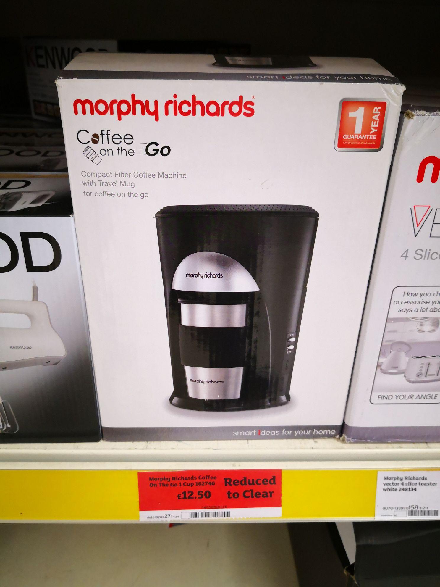 Morphy Richards Coffee on the go 162740 £12.50 @ Sainsburys (Norwich Longwater)