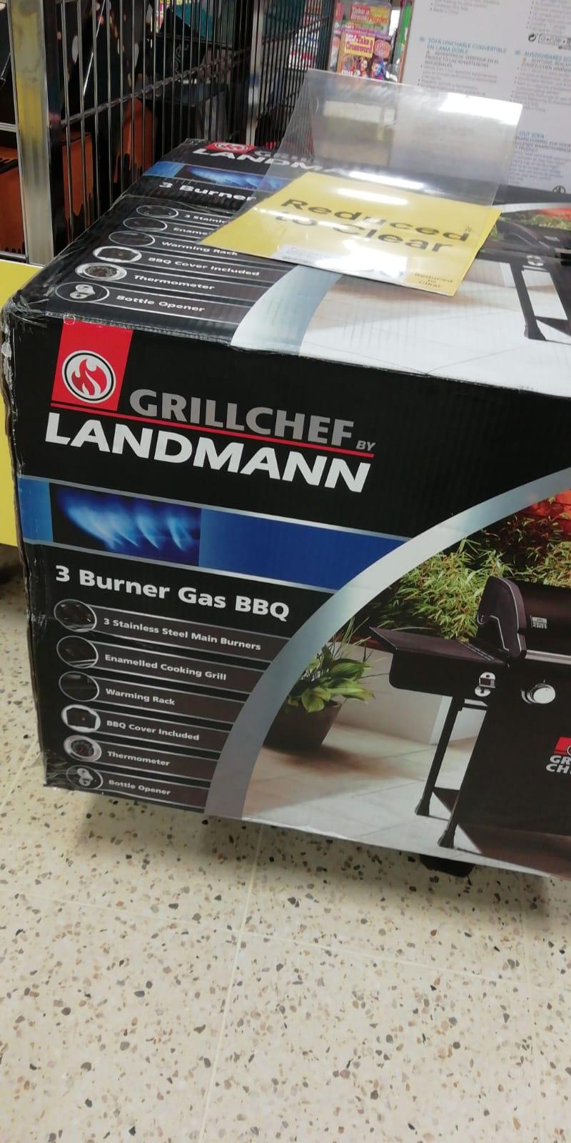 Landmann Grill Chef 3 Burner Gas BBQ instore at Tesco for £50 (Maryhill, Glasgow)