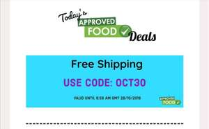 Free Shipping on orders overs £30 @ Approved Food