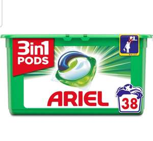 Ariel 3 in 1 Pods 38 washes for £5.75 at Asda