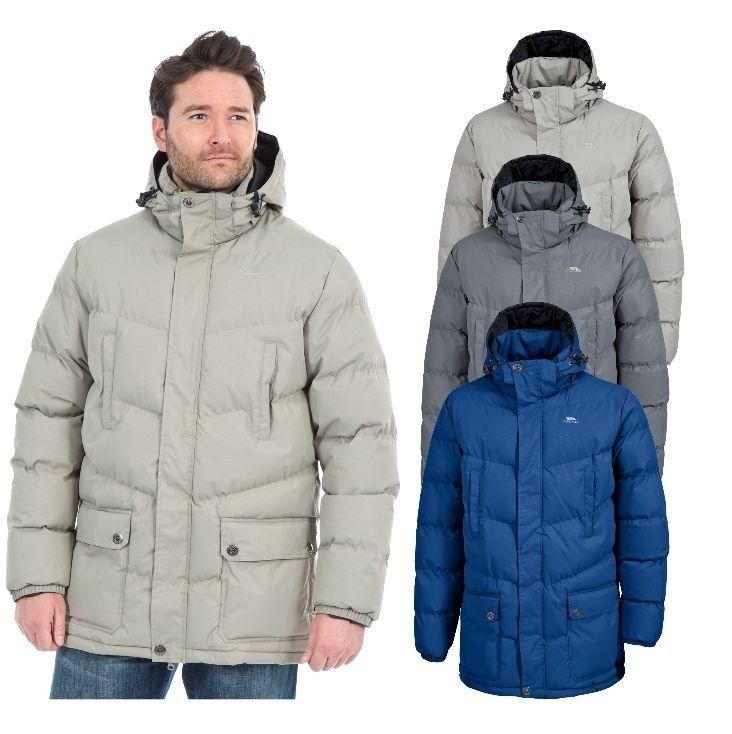 Trespass Cumulus Mens Padded Casual Jacket Warm Winter Coat with Hood £19.99 & Free Postage @ Trespass Ebay