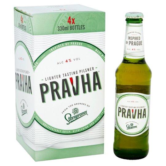 Pravha Lager 8 X 330ml Bottles £5 @ Tesco