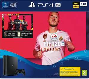 SONY PlayStation 4 Pro with FIFA 20 £274 delivered with code @ Currys ebay