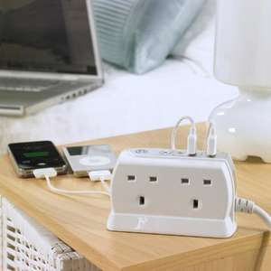 4-Gang Surge Protected Extension Lead with USB Ports £14.99 @ Mobile Fun