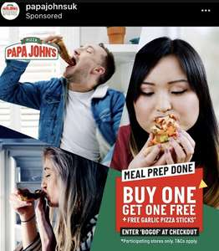 Papa Johns Buy one get one free plus free garlic bread sticks with code