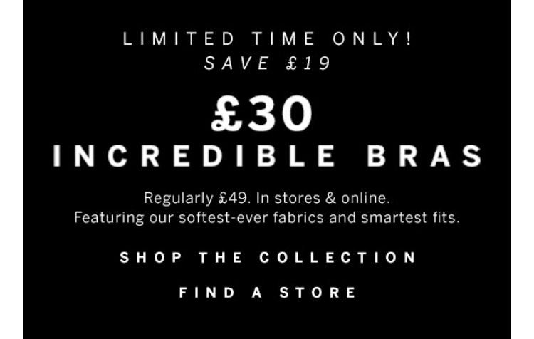 £30 bras @ Victoria's Secret