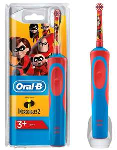 Oral-B Electric Rechargeable Incredibles Toothbrush for Kids £14.95 + £4.49 delivery Non Prime @ Amazon