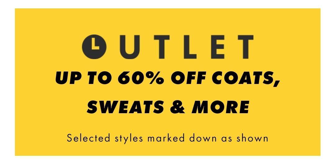 ASOS 60% off coats, etc