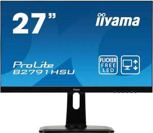"iiyama B2791HSU-B1 ProLite 27"" Height Adjustable HD LED Monitor with USB - Black £172.99 @ Amazon"
