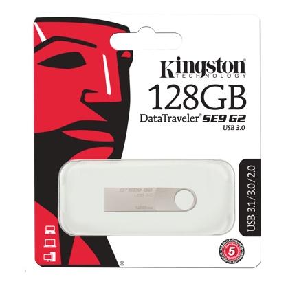 KingstonTechnology DataTraveler SE9 G2 128 GB USB 3.1 Flash Drive, USB 3.0 Gen 1 (DTSE9G2/128GB) for £14.99/64GB for £8.99 Delivered @ Base