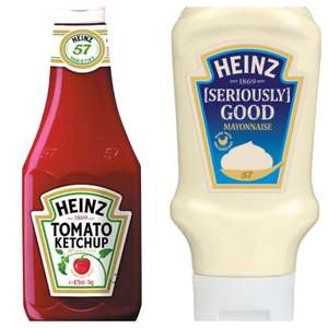Heinz Ketchup 342g or Mayonnaise 400g 79p in-store @ JTF