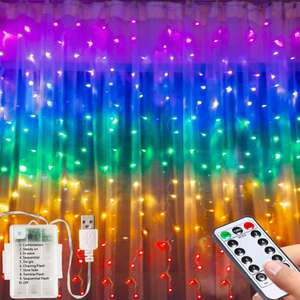 Led Fairy Curtain Light- 3M*1.5M USB Operated Or Battery Powered String Lights £11.99 + £4.49 delivery Sold by XHOSX and Fulfilled by Amazon