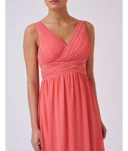 Forever unique coral maxi dress for prom, bridesmaid, party was £100 now £30 (£4.95 delivery)