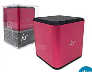 KitSound Cube Wired Mini Universal Rechargeable Portable Speaker Stereo Pink £4.99 @ DSG_Outlet /Ebay