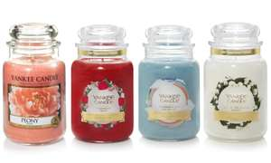4 Large Premium Yankee Candles Jars for £45 at Groupon (new customers only)