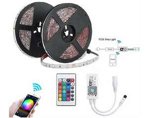 2 x 5m smart LED strips, WowLED, compatible with alexa, Google and IFTTT £17.99 Sold by Wow Factor Information and Fulfilled by Amazon