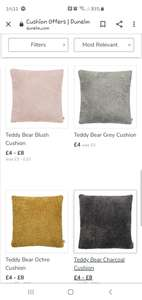 Dunelm... up to 30% off cushions