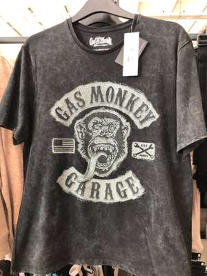 Gas Monkey Garage T-Shirt £10 in store (£8 today only) @ Tesco Hemsworth