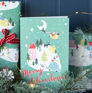 Christmas Wonderland Greeting Card 25p at Rex London (£3.95 delivery or free over £20)