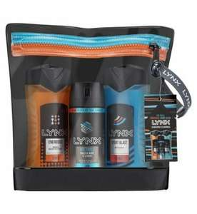 Lynx Energised washbag gift set for £5 @ Boots
