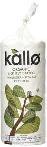 Kallo Organic Salted Rice Cakes 130 g (Pack of 12)  £3.62 Amazon Pantry