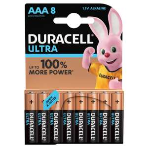 Duracell Ultra Power AAA 8 Pack and Duracell Ultra Power AA 8 Pack 2 for £10 at Homebase