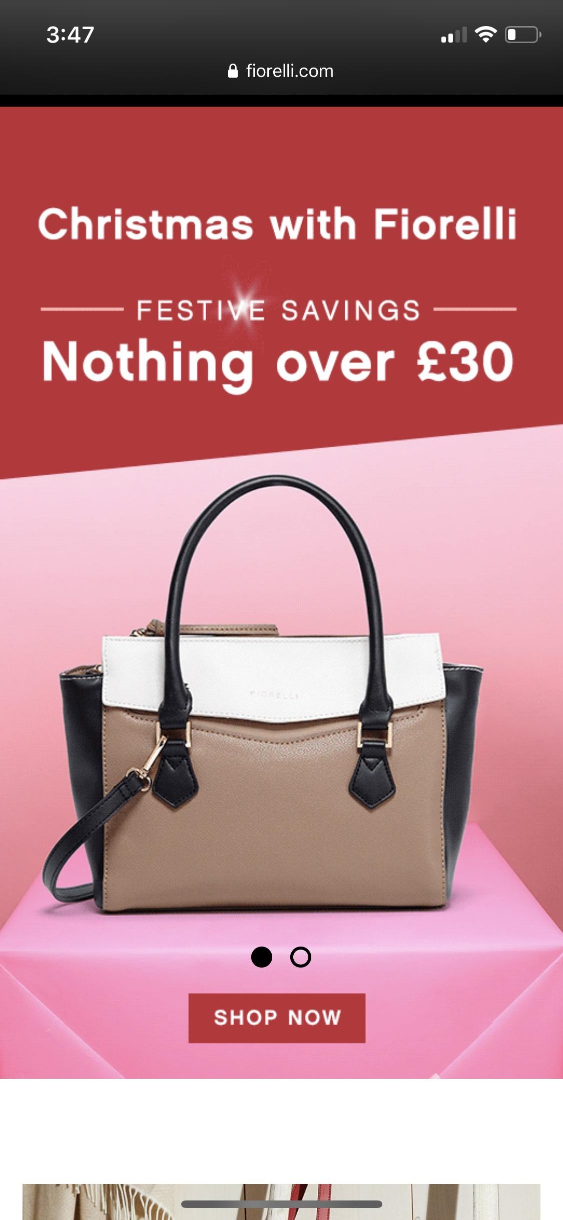 Fiorelli bags under £30