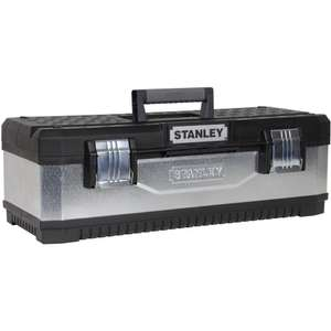 Stanley Galvanized Metal Plastic Toolbox 660mm £25.20 at Amazon