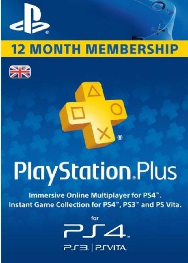 Playstation Plus - 12 month subscription £41.79 @ CDKeys