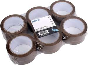 PAVO Premium 50 mm x 66 m  Packing Tape - Brown (Pack of 6) £3.60 at Amazon (Add-on Item)