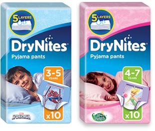 FREE Huggies Drynites Sample with sign up at DryNites